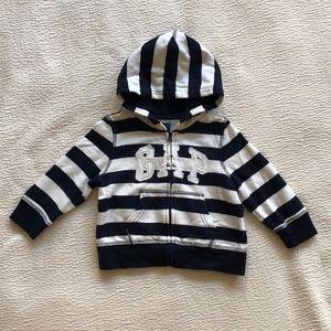 GAP Baby Boy Striped hoodie Sweatshirt 18-24M